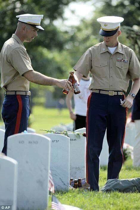 Salute the ones who died, the ones who gave their lives so we don't have to sacrifice all the freedoms we hold so dear.